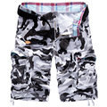 Hot Sale 2016 summer men's casual shorts loose cargo shorts tide camouflage shorts plus size 29-38 yards 4 colors Free shipping