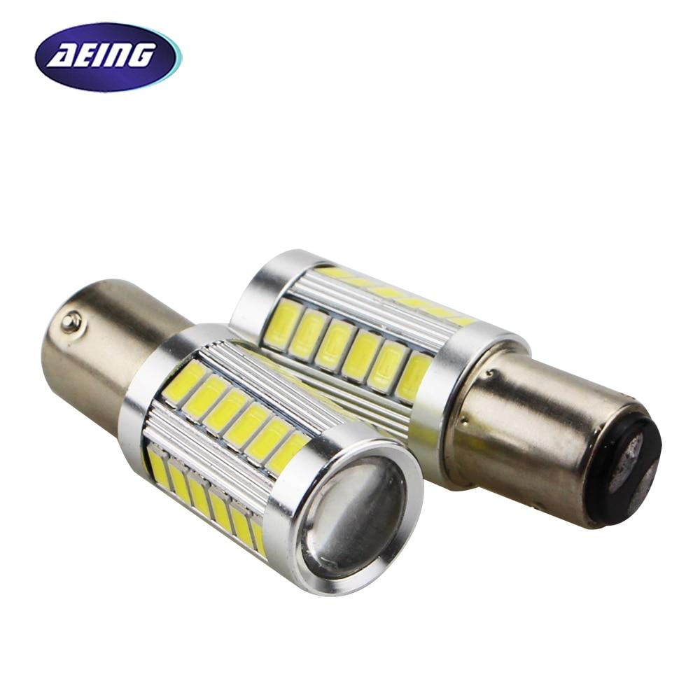 AEING 2pcs S25 1157 bay15d P21/5W LED Bulb Car 12V Stop/Tail/Rear/Brake/Reverse Light Bulb Xenon White Red Amber Colors