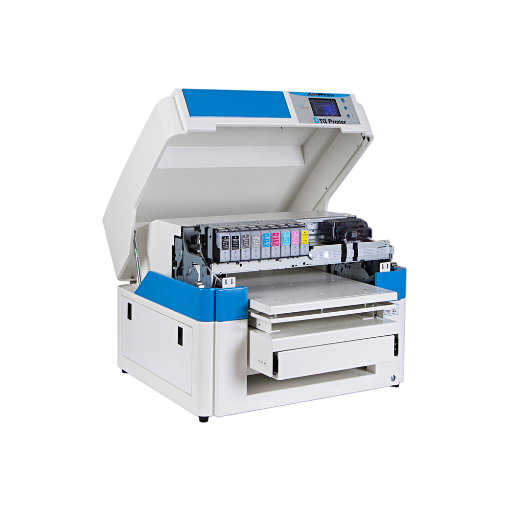 Inkjet Flatbed Printer For Textile Printing White Textile Ink For T-shirt Printer A2 Size DTG Printing Machine