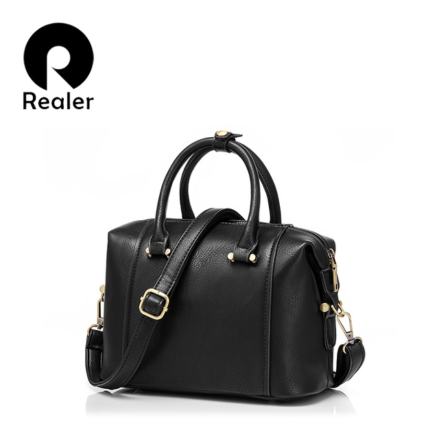 Бренд Realer женская сумка для боулинга, модная маленький сумка через плечо, дизайнер сумок высокого качества из искуственной кожи
