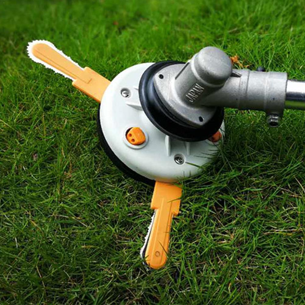 Dual use Power Grass Trimmer Head Plastic Chain Saw with nylon line cutter Easy Cutting for Brush Cutter,Auto bump feed head