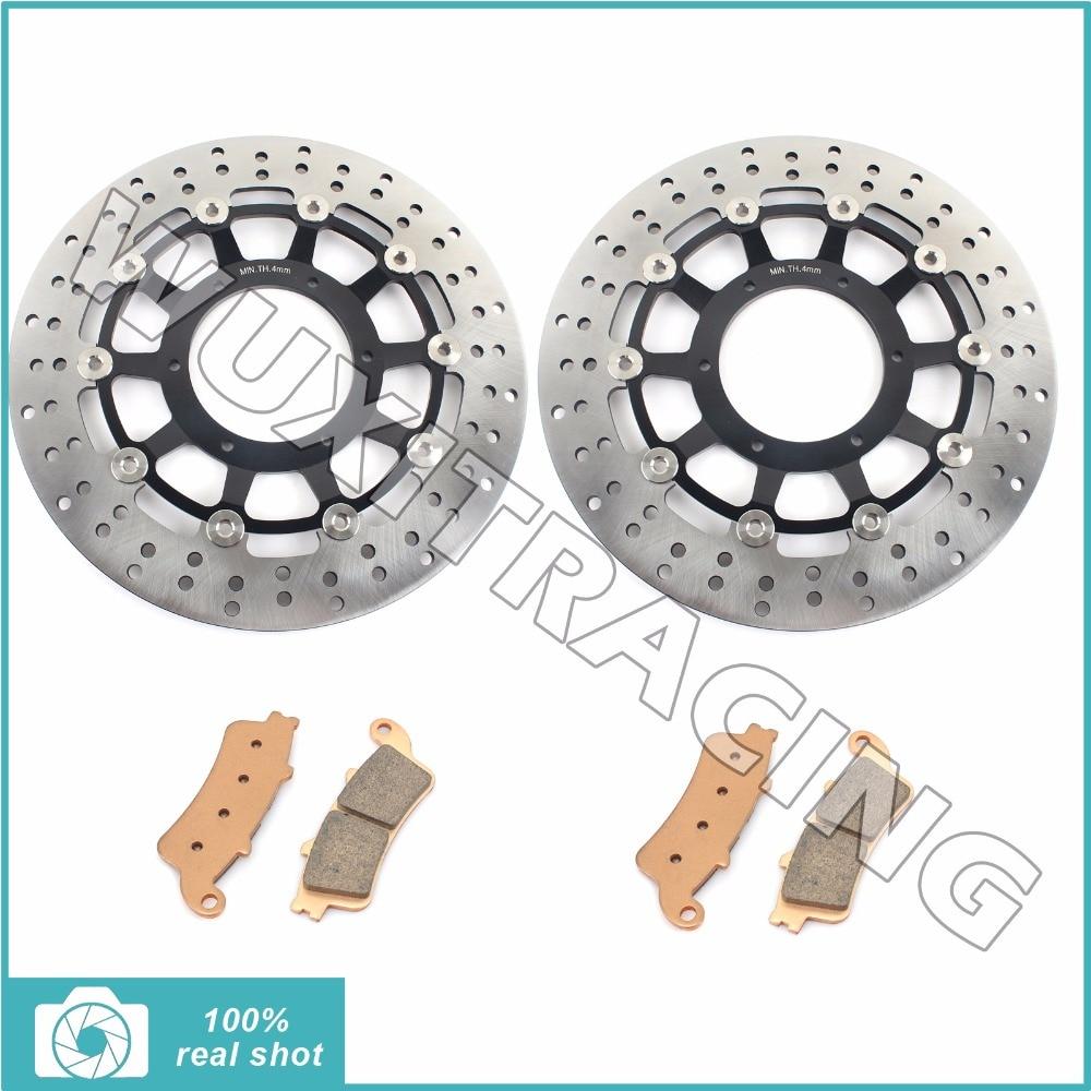 Круг новые передние тормозные диски Роторы колодки для Honda VTX 1800 р литые диски с 02-07 VTX1800 с Спицевые колеса Ф Н Т 02-11 03 04 05 06
