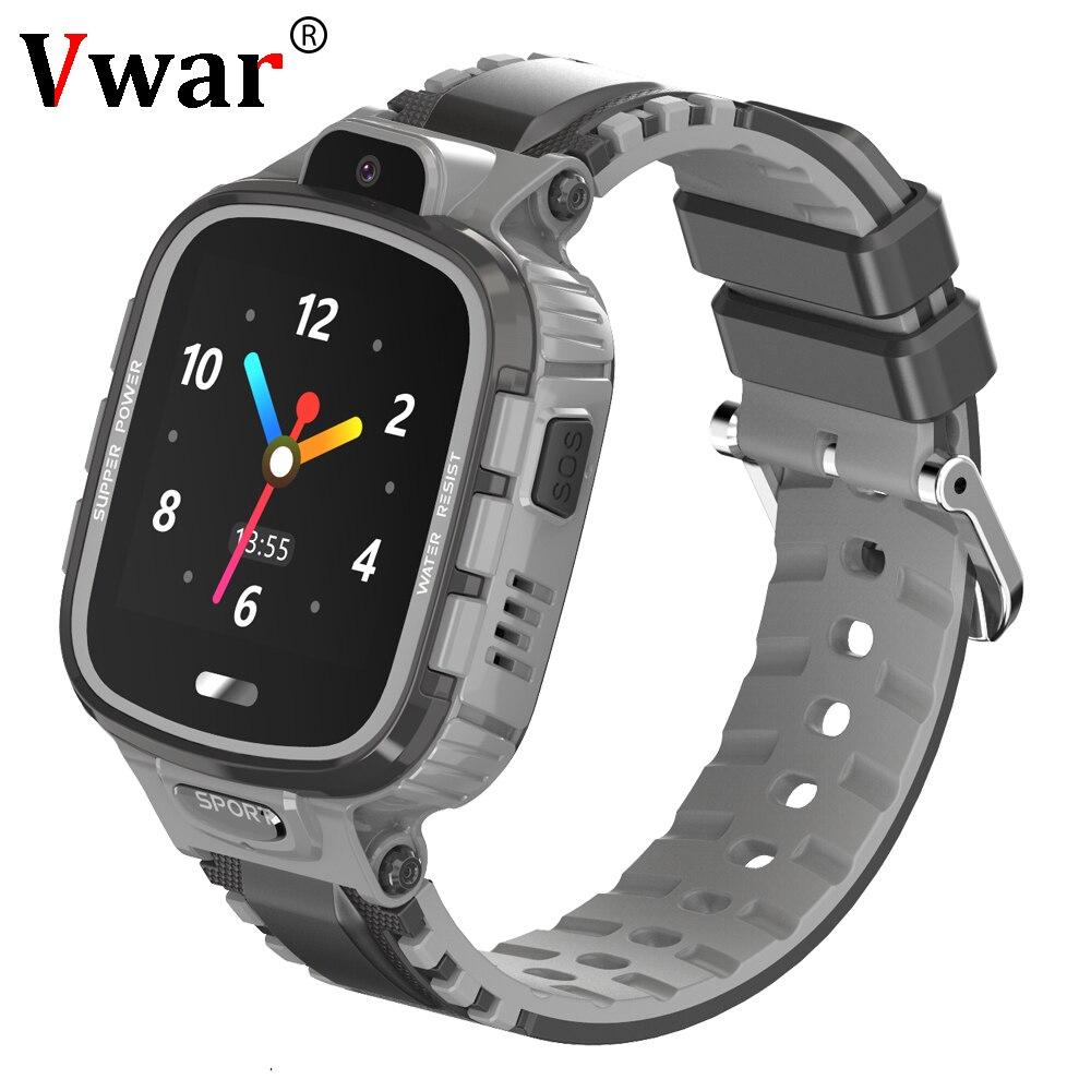 Vwar K90 étanche enfants GPS montre intelligente SOS Tracker Anti-perte enfants Smartwatch bébé 2G GPS Wifi localisation horloge PK Q90 Q528