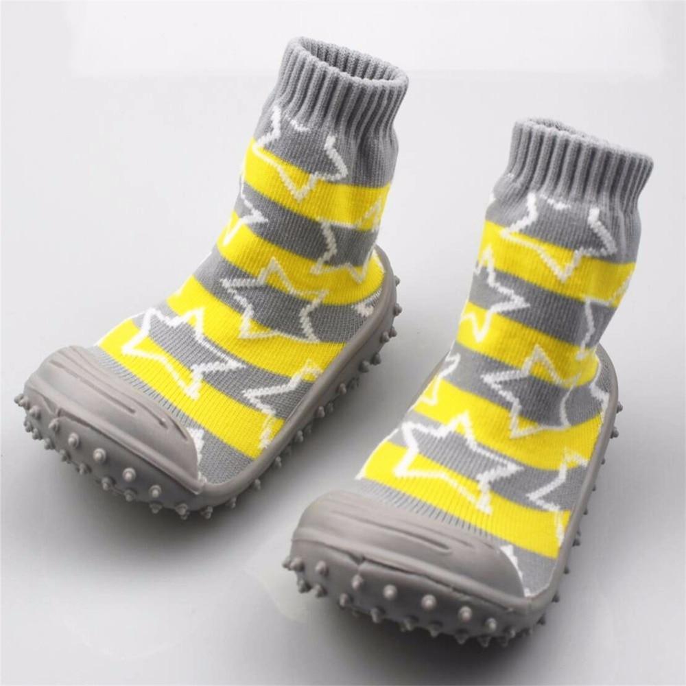 Baby Socks Infant Newborn Anti Skid Baby Socks With Rubber Soles Non-Slip Room Shoes yoga socks non slip skid with full toe grips