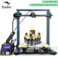 CR 10 4S 3D Printer KIT 400*400mm Dual Leading screws Rod Full Aluminium Filament Monitoring Alarm protect CR 10 Creality 3D