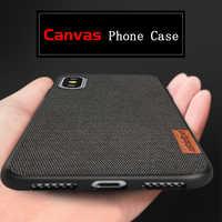 Toile coque de téléphone pour iphone 8plus XR 6 6S 7Plus antichoc hommes d'affaires rétro tissu résistant à la sueur couverture arrière pour iphone XS max
