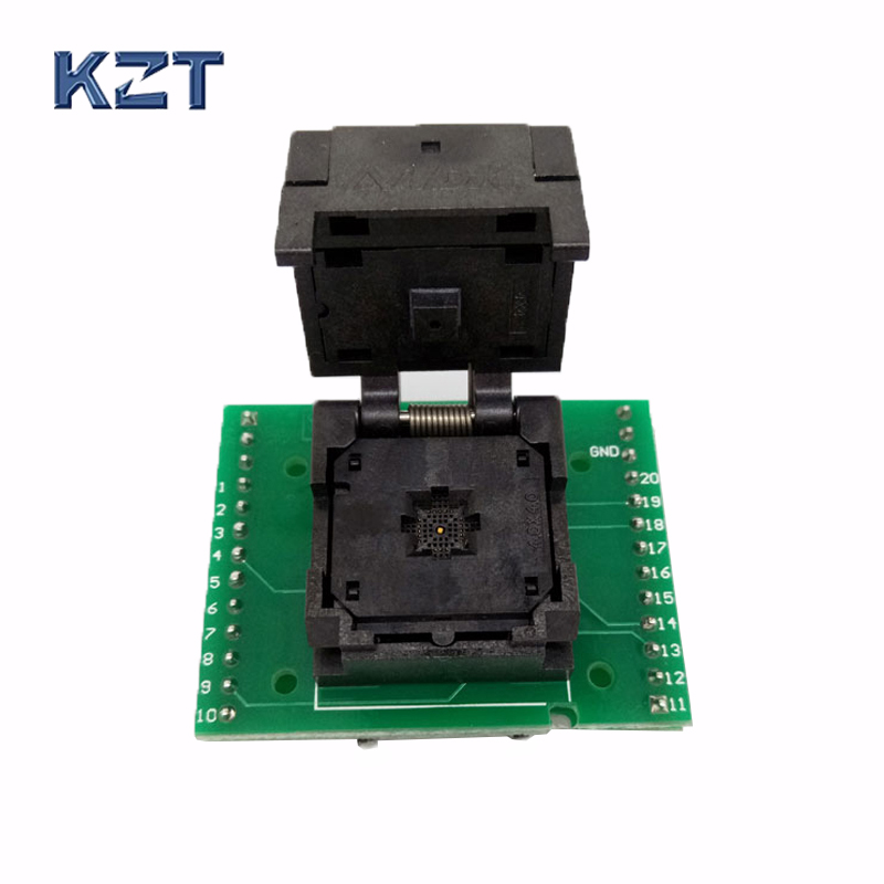 QFN20 MLF20 WLCSP20 to DIP20 Double-Board Programming Socket Adapter Pitch 0.5mm IC Body Size 4x4mm IC550-0204-009-G Test Socket qfn20 to dip20 mlf20 mlp20 plastronics qfn ic programming adapter test burn in socket 4 4 mm 0 5 pitch free shipping