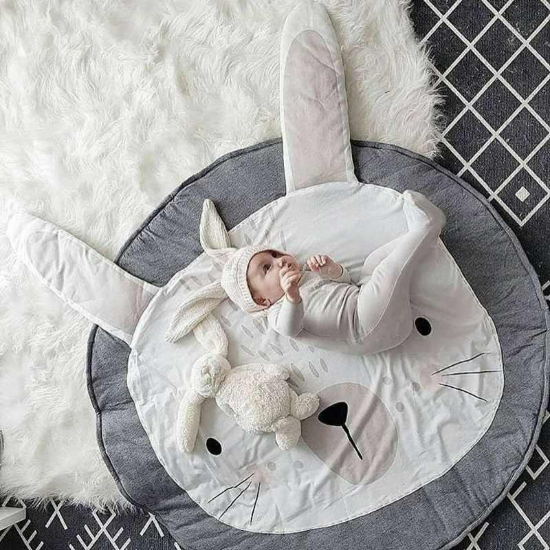 Bébé jouer tapis Pad mignon dessin animé animaux enfants ramper couverture nouveau-né infantile doux tapis de couchage tapis rond tapis jouets tapis