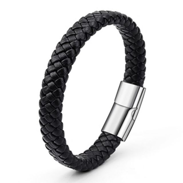 2018 Limited Pulseira Masculina Pulseira Feminina 21cm Braided Pu Leather Bracelets For Bangle & Bracelet Fashion Men Jewelry by D&D