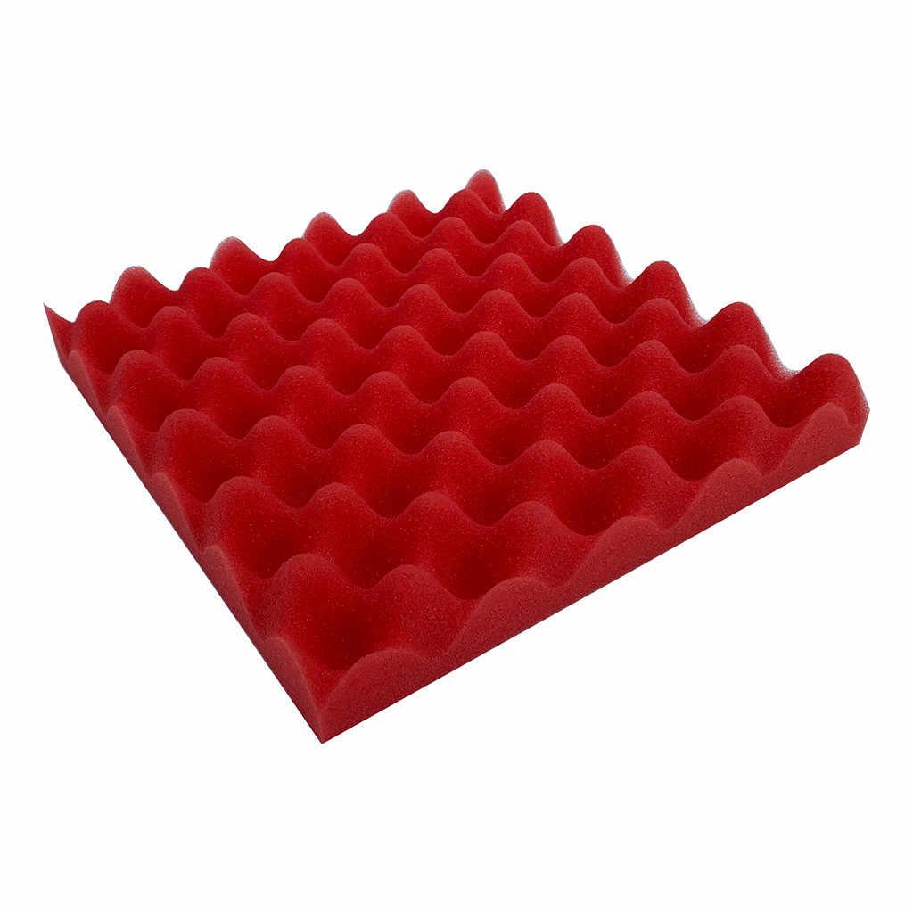 25*25*4 ซม. แผ่นอะคูสติก Soundproof สติ๊กเกอร์ติดผนังฟองน้ำรางไข่สตูดิโอโฟม Treatment ฉนวนกันความร้อนที่ยอดเยี่ยมสติกเกอร์