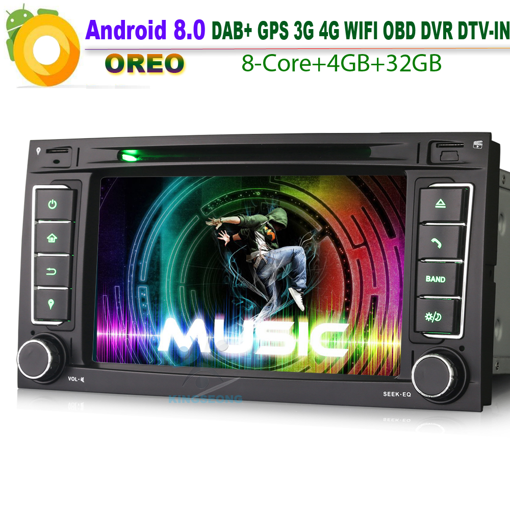8 Kern Android 8.0 Autoradio DAB+ Sat Navi WiFi 3G RDS OBD BT USB DTV IN Car GPS Navigation Player For VW Touareg T5 Multivan