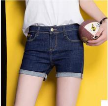 Skinny Curling Denim Shorts For Women Summer Plus Size Fashion Female Jeans Short Ladies Jeans Feminino Short Bermudas K217