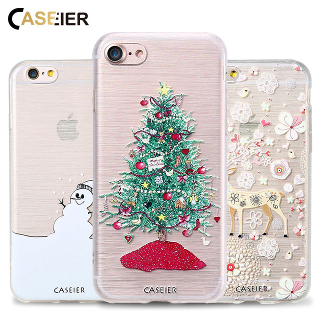 new arrival b2b88 67615 US $2.99 40% OFF|CASEIER Phone Case For iPhone 6 6s Plus Merry Christmas  Soft TPU Shell For iPhone 6s 6 7 8 Plus X 5s winter Cases Funda Capinha-in  ...