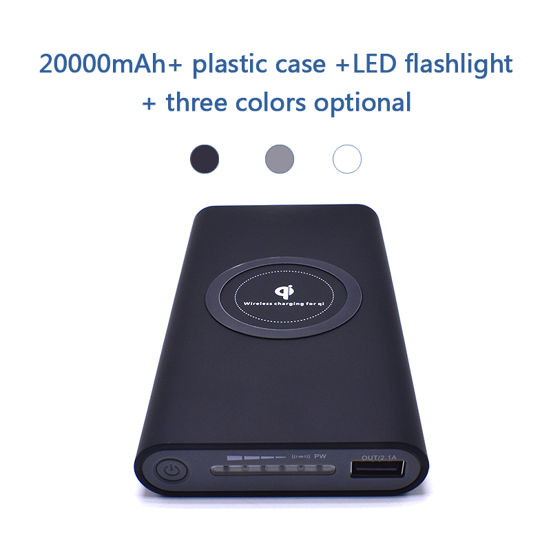20000 mah Power Bank Externe Batterie Quick Charge Wireless Power bank Tragbare Handy Ladegerät für Samsung iPhone 8 8 plus X
