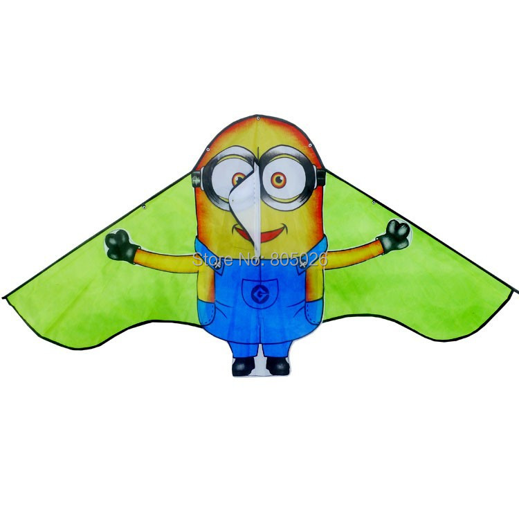 Free-shipping-new-design-lovely-Minions-kite-3pcslot-child-kite-flying-toy-nylon-ripstop-with-handle-and-line-high-quality-2