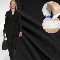 Pearlsilk Сделано в Японии черный тонкий wollen товары 100% шерсть одежды материалы костюм брюки DIY ткани Бесплатная доставка