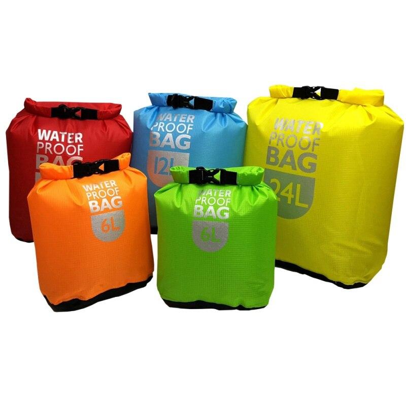 1pc Waterproof Dry Bag Pack Swimming Rafting Kayaking Bags Trekking Floating Sailing Canoing Boating Water Resistance Dry Sacks