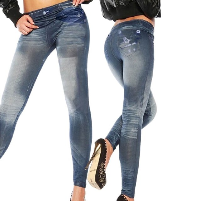 Jeans Style Casual Leggings