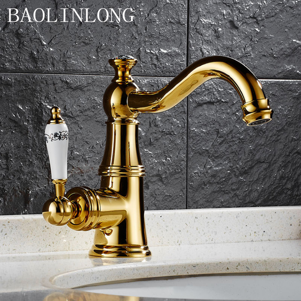 BAOLINLONG Styling Brass Deck Mount Basin Bathroom Faucet Vanity Vessel Sinks Mixer Faucet TapBAOLINLONG Styling Brass Deck Mount Basin Bathroom Faucet Vanity Vessel Sinks Mixer Faucet Tap