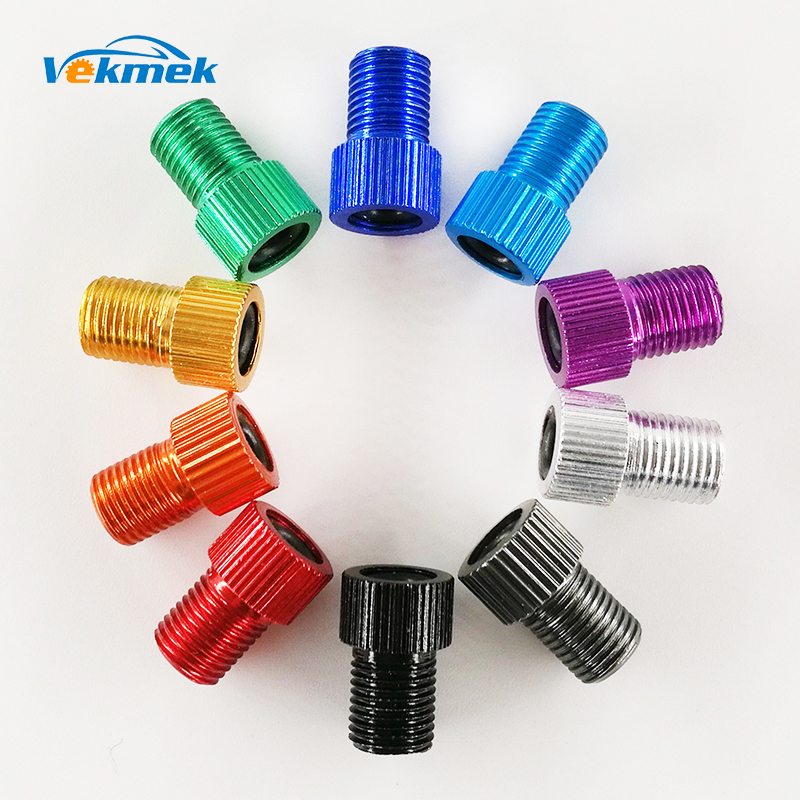 2pcs Alloy Presta Tire Valve Adapter Caps Road Bike Mtb Adaptor French Air Valve Convert To Us Valve Tube Pump Tool Accessories Numerous In Variety