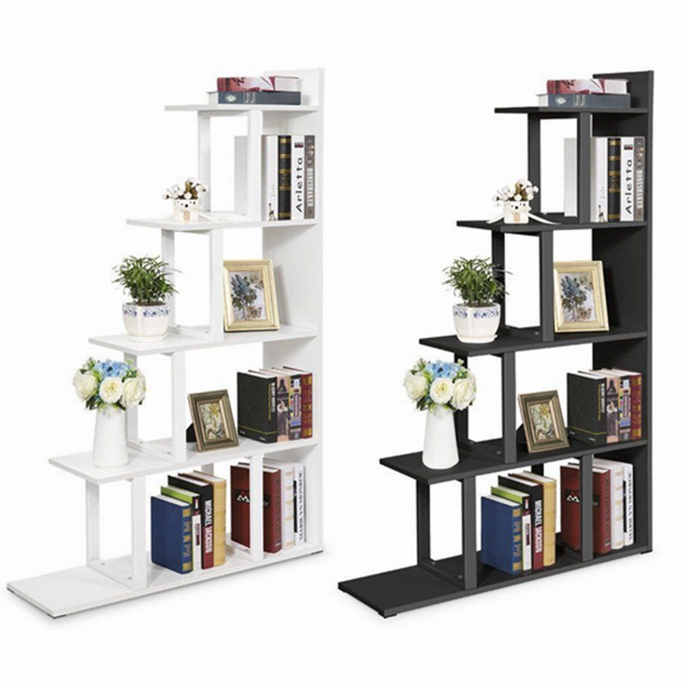 tribesigns 5 niveaux bibliotheque etagere murale coin etagere echelle stockage affichage