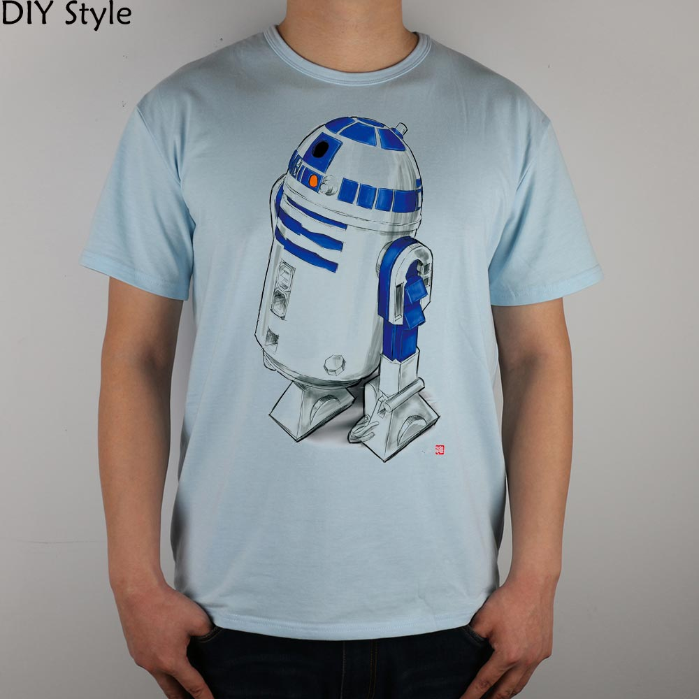 STAR WARS R2D2 T-särk Top Lycra Cotton Men - Meeste riided - Foto 4
