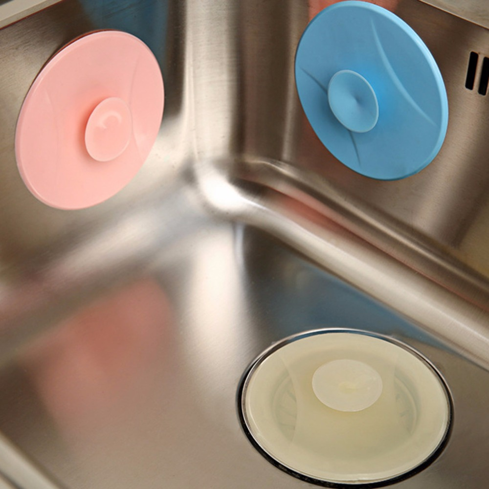 New 1Pcs  Leakage-proof Stopper Sink PVC Basin Laundry Sink Bathtub Stopper Water Plug Rubber Circle Silicon Drain Plug Bathroom
