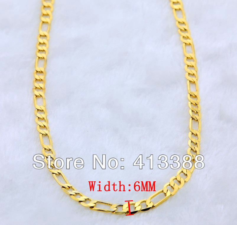 GK1 top quality 24k gold man jewelrycool three interval one 24k
