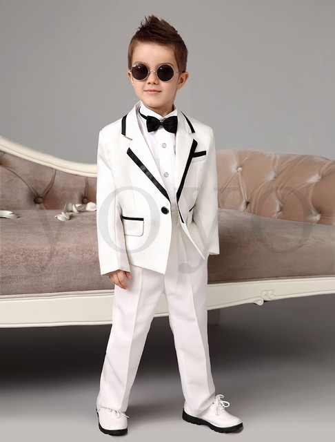 346300f7f7a7 2015 Autumn NEW Boys White Tuxedos Wedding Attire Baby Boy Dress Clothes  Wedding (Coat+Pants+Tie) Boys Wedding Suits