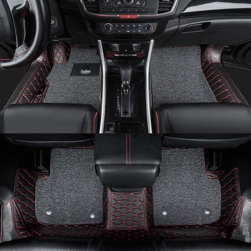 Lsrtw2017 волокно кожаный салон автомобиля коврик для хонда аккорд 2008 2009 2010 2011 2012 2013 2014 2015 2016 2017 2018 2019