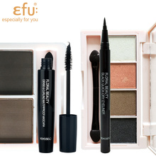 4Pcs/Set EFU New 4pcs Eye Makeup Set Mascara and Eyeliner and Eye shdow and Eyebrow #YYS003