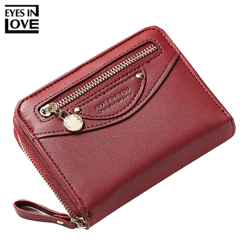 EYES IN LOVE Women Wallet With Zipper Coin Pocket Card Holder Female Small Wallets Brand Designer Ladies Short Purse Carteira wallet