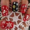 Снежинки Снеговик 3D Nail Art Наклейки Надписи Девушка Ногтей Аксессуары 1QA9 2TMG
