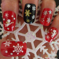 Snowflakes Snowman 3D Nail Art Stickers Decals Girl Fingernail Accessories 1QA9 2TMG