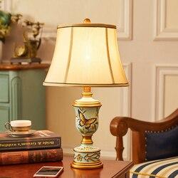 Nowoczesne latający ptak i motyle w kwiaty lampa stołowa E27 lampa stołowa sypialnia lampka nocna kryty salon lampka do sypialni