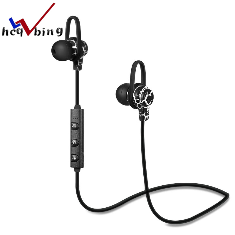 HCQWBING Crack Bluetooth Earphone With Mic Wireless Headphone Subwoofer Sport Headset Earbuds For Apple iphone Earpods Airpods