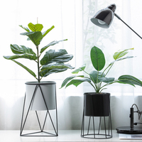 Nordic creative geometry simulation plant potted ornaments ornaments home decoration indoor green plant bonsai simple flower pot