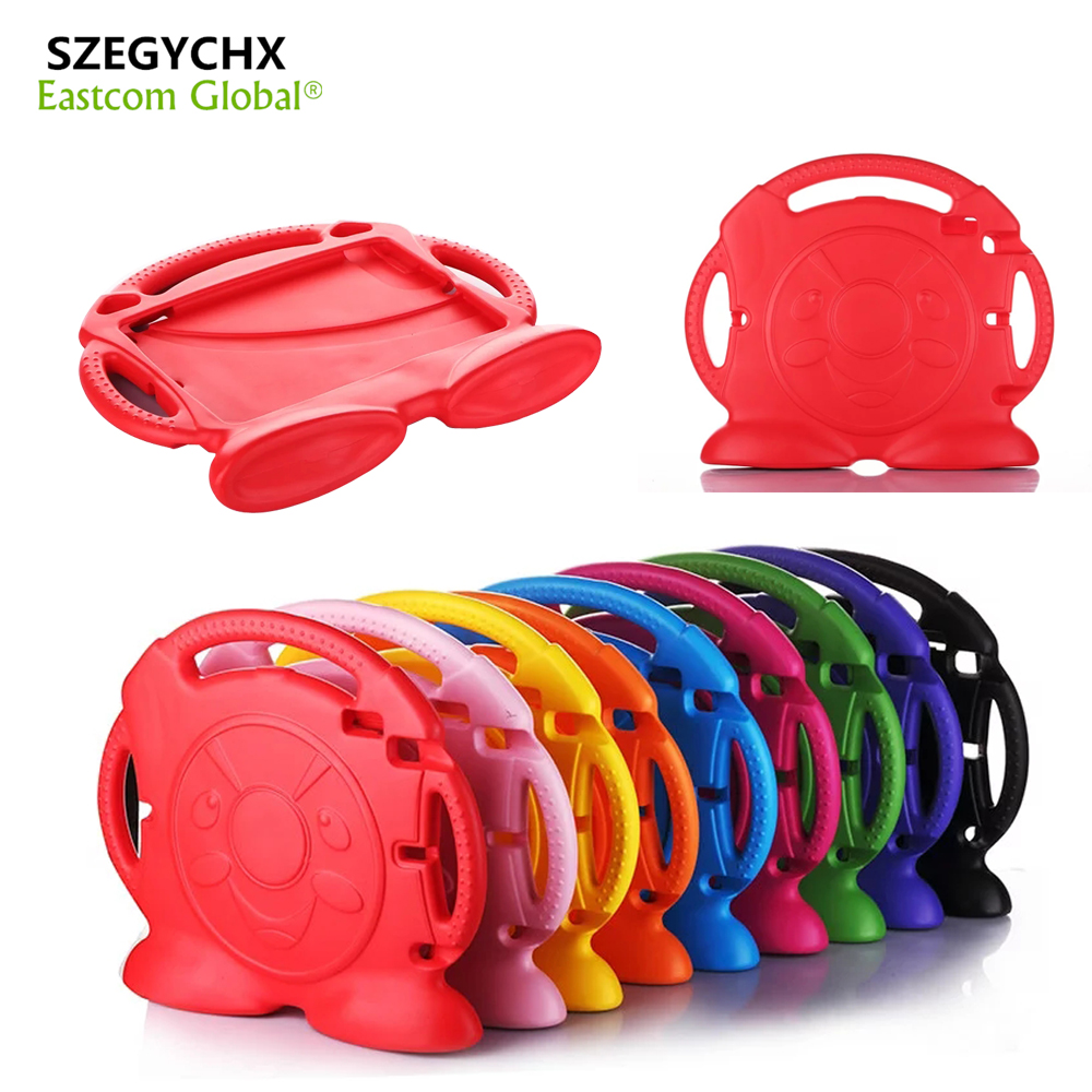 SZEGYCHX Case For iPad Air1/Air2 General Thomas handgrip Stand Shock Proof EVA Full Body Cover Kids Children Safe Silicone Shell lt 5t full metal full hard oxygen treatment combination shock absorber leakage proof 4 pcs