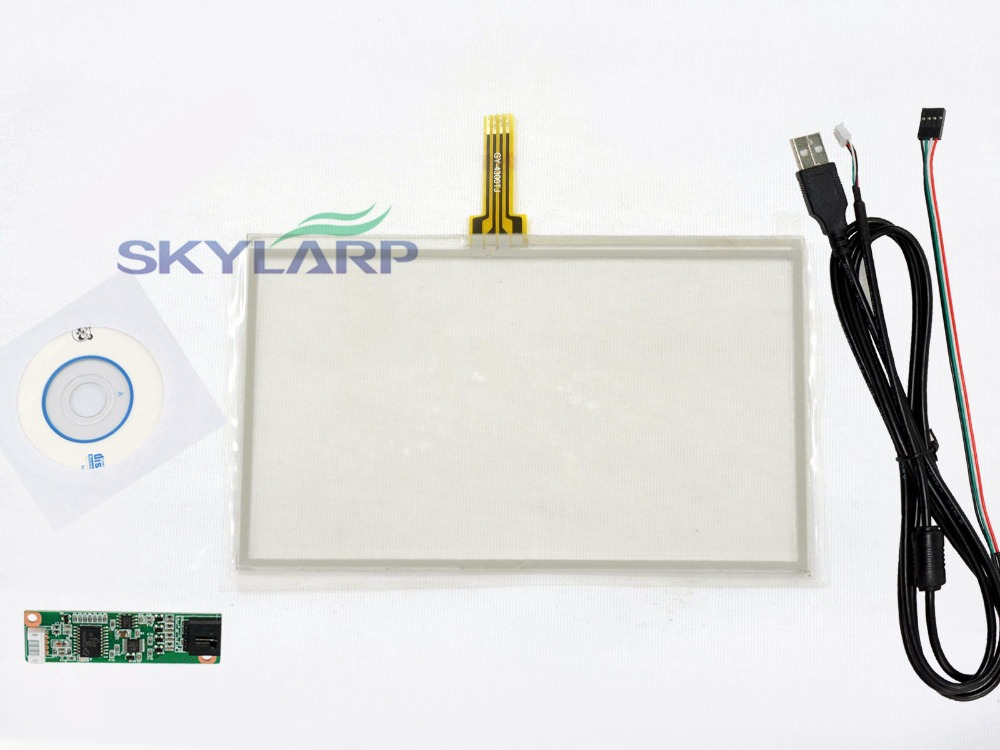 NEW 4.3inch 4 Wire Resistive Touch Screen Panel USB Controller Kit for HSD043I9W1-A00 Touch panel Glass Free shipping