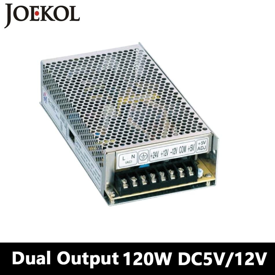 Switching Power Supply 120W 5V 12V,Double Output Watt Power Supply For Led Strip,AC110V/220V Transformer To DC 5V/12V,led Driver meanwell 12v 350w ul certificated nes series switching power supply 85 264v ac to 12v dc
