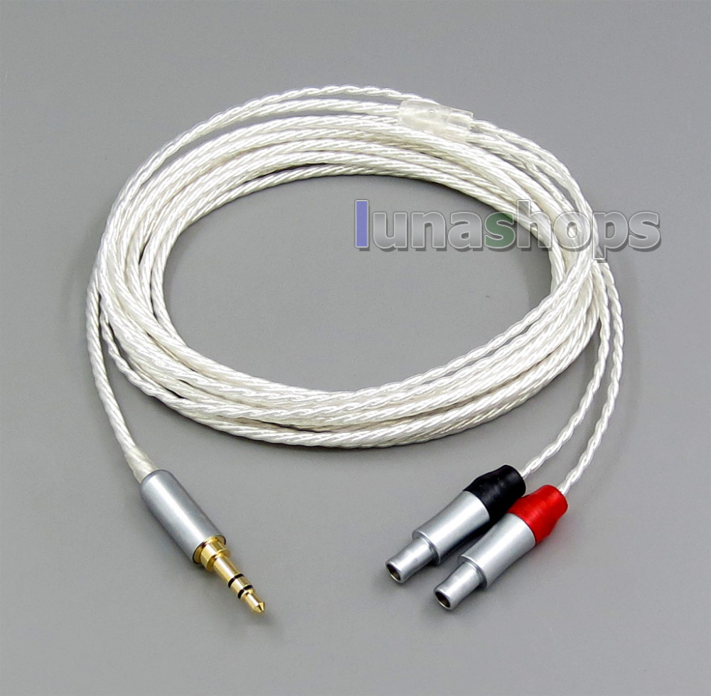 3m Pure Silver Plated 7N OCC 3 5mm Headphone 4 100cores Earphone Cable For Sennheiser HD800