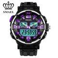 Красочные Цифровые Часы LED Кварцевые Dual Time Display Writswatch Мужской Часы Водонепроницаемые Часы Мужчины Спорт Мужской Часы MilitaryWS1360