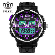 Colorful Digital Watches LED Quartz Dual Time Display Writswatch Male Clock Waterproof Watch Men Sport Male Clock MilitaryWS1360