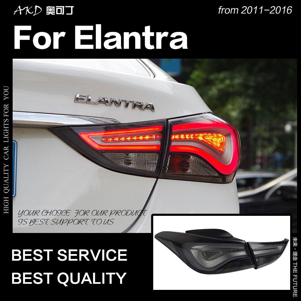 AKD Car Styling for Hyundai Elantra Tail Lights 2011 2015 LED Tail Lamp LED Rear Lamp