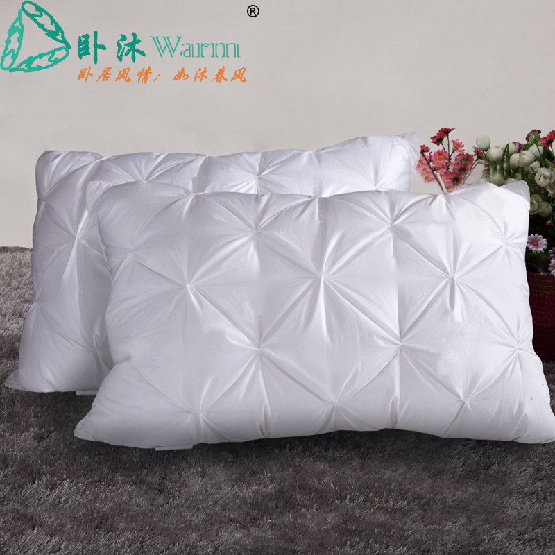 luxury home use 850goose down pillow inserts new design twisted flowers down pillows