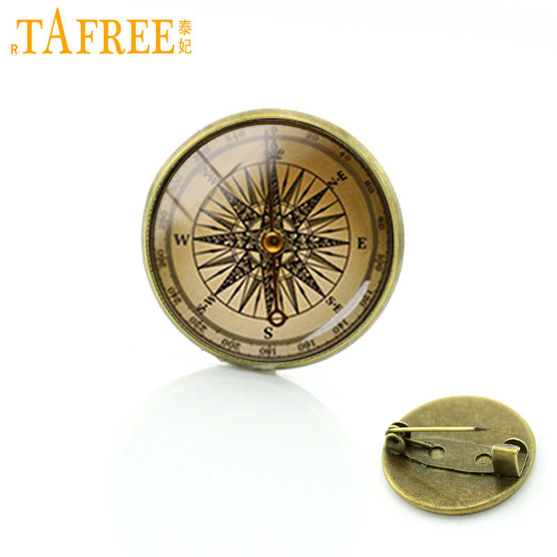 TAFREE luxury navigator  picture badge vintage original  nautical Arrow brooches men women accessories pins T560
