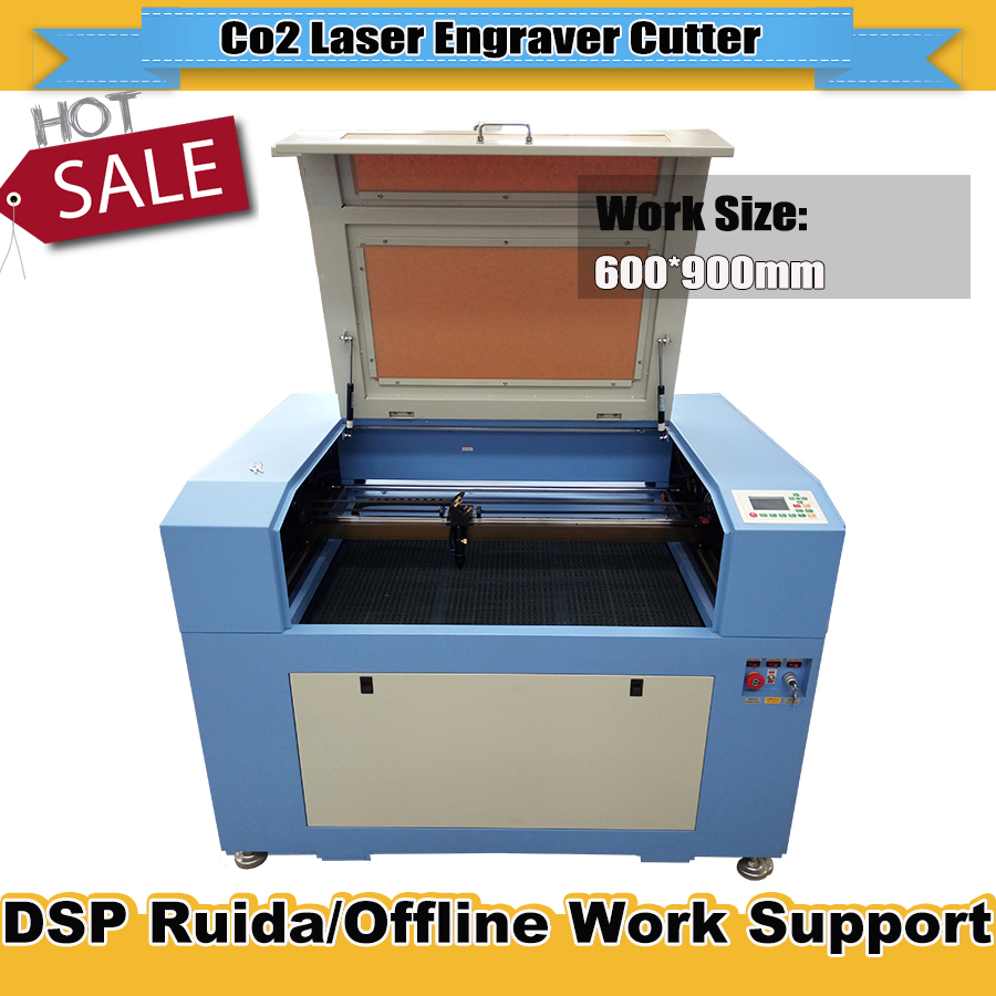 Laser Engraving Machine 6090 90W  Reci Laser Tube With Motorised Up And Down Honeycomb Work Table