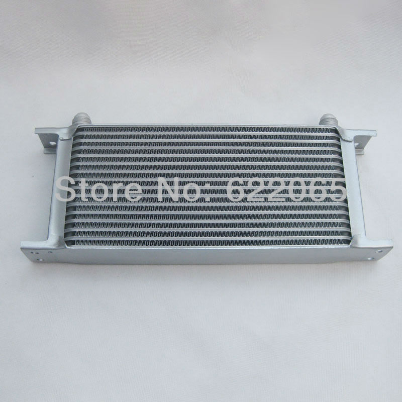 16 row silver mocal oil cooler oil radiator modified car oil cooler (in/out AN8) brand new oil cooler cover for 4be1 4bc2 4bf1 npr ks22 8 94438 371 0 oil cooler covers