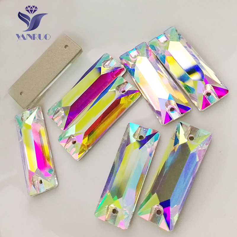 YANRUO Top 3255 Cosmic Baguette AB Sew On Crystal Rhinestones Sewing Strass Crystals  Stones For Clothes d128831f8740
