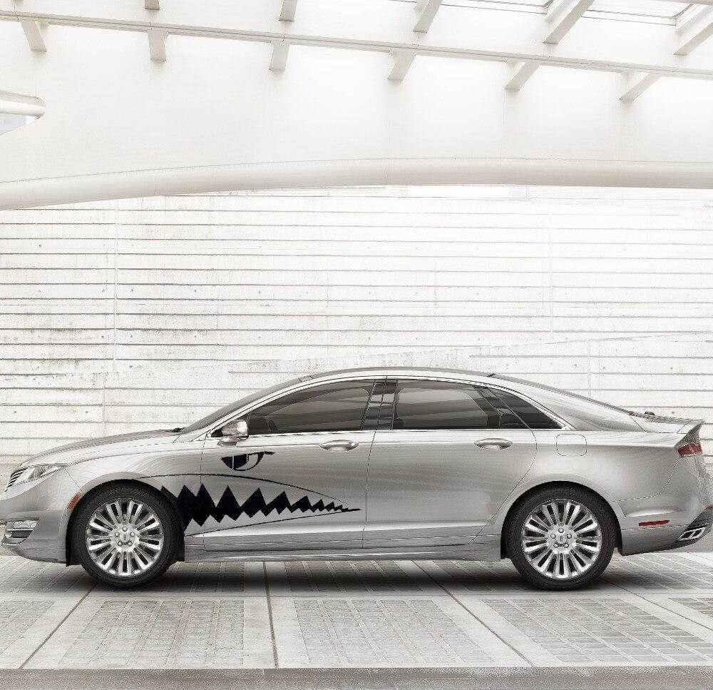 2X Car Body DIY Shark Teeth Graphics Waterproof Car Sticker Decals